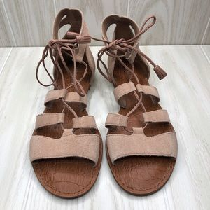 Gianni Bini Suede Tie Up Strappy Sandals size 8.5